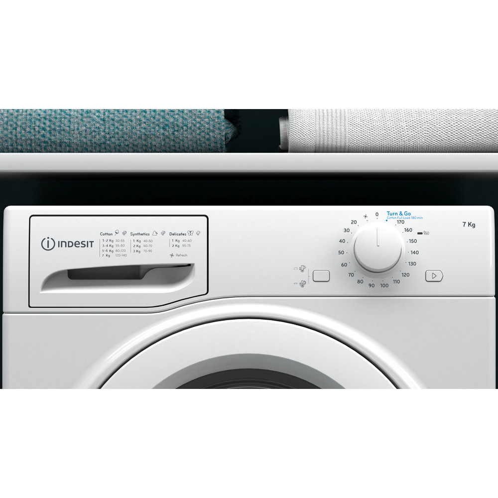 Indesit Dryer I2 D71W UK White Lifestyle control panel