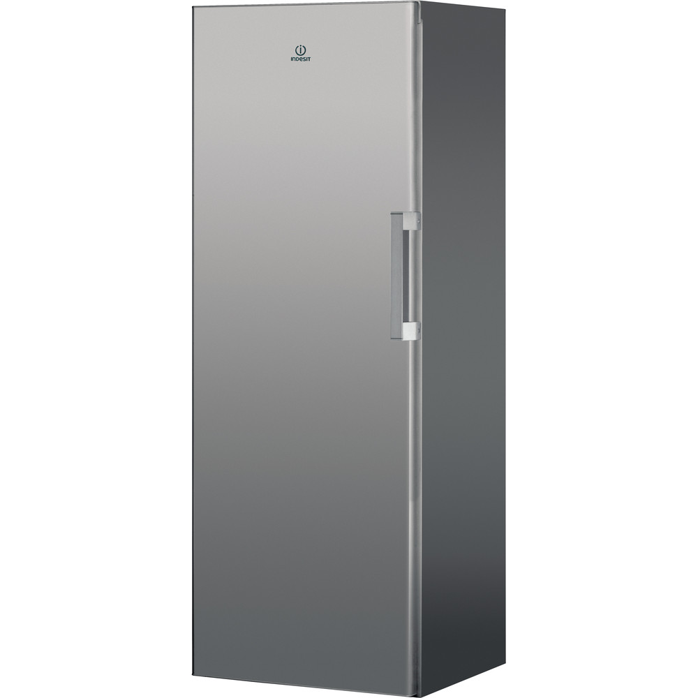 Indesit Freezer Free-standing UI6 F1T S UK 1 Silver Perspective