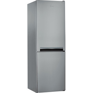 Indesit Kombinētais ledusskapis/saldētava Brīvi stāvošs LI7 S1E S Sudraba 2 doors Perspective