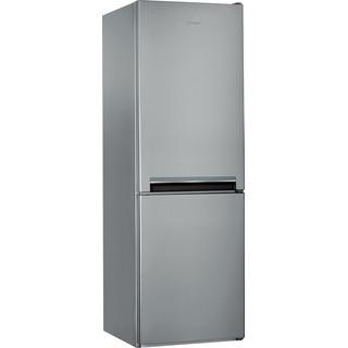 Indesit Réfrigérateur combiné Pose-libre LI7 S1E S Argent 2 portes Perspective