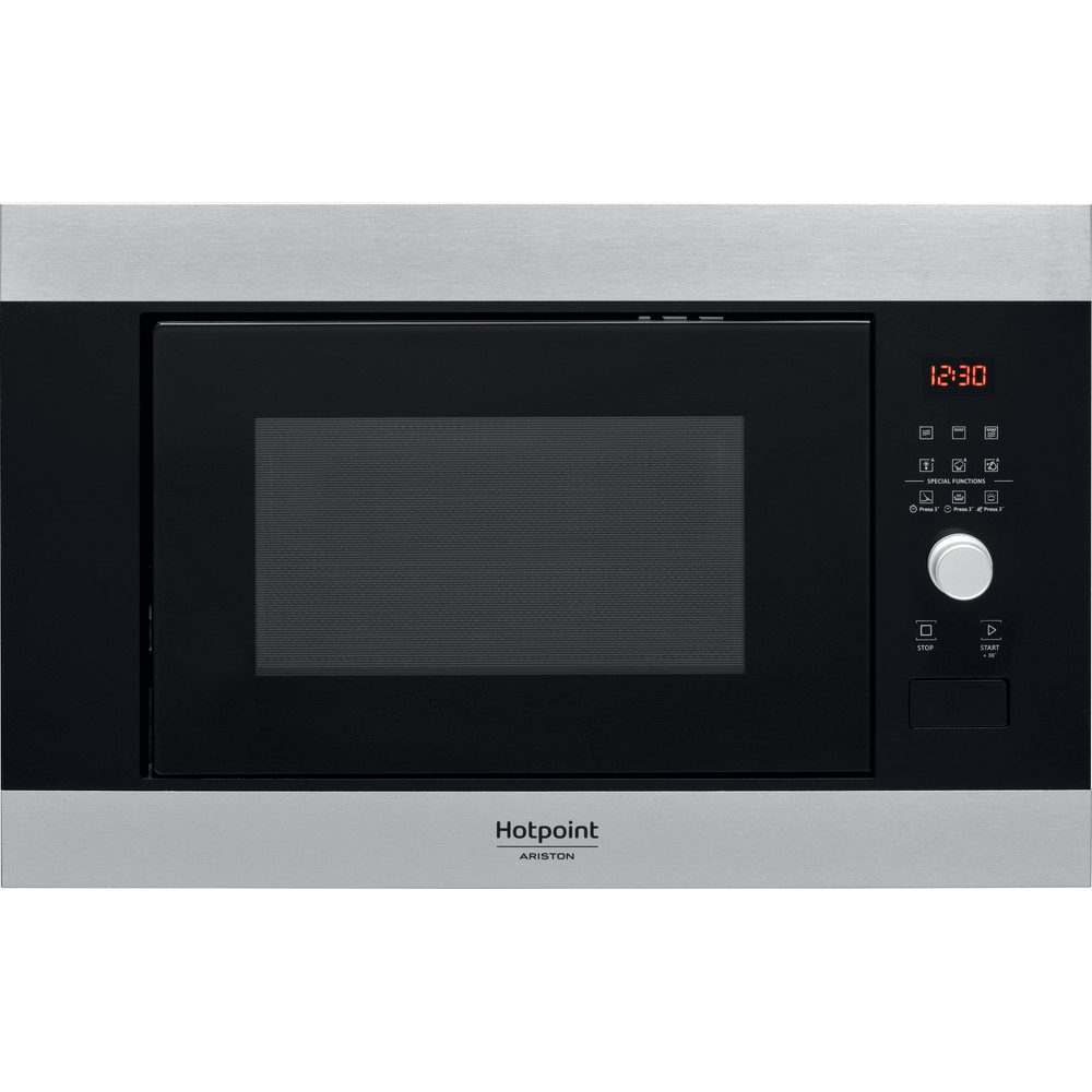 Hotpoint_Ariston Microonde Da incasso MF25G IX HA Inox Elettronico 25 Microonde + grill 900 Frontal