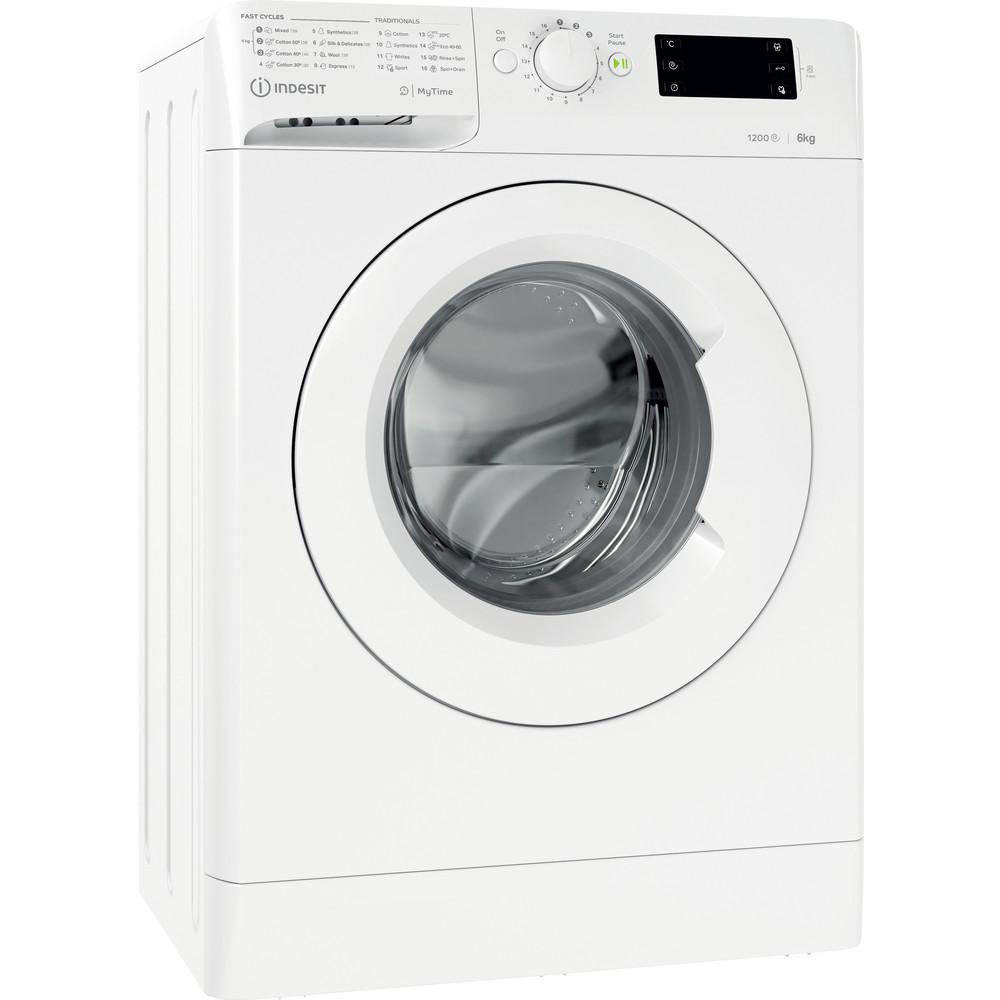 Indsit Maşină de spălat rufe Independent MTWSE 61252 W EE Alb Încărcare frontală A +++ Perspective