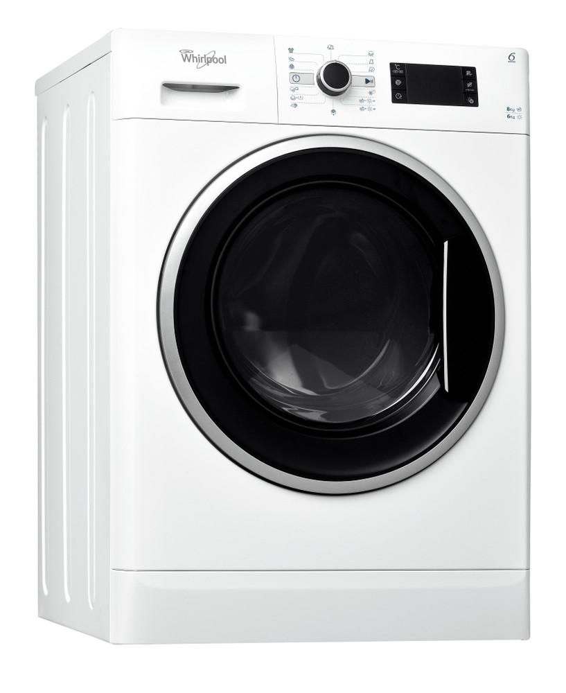 Whirlpool Washer dryer Samostojeća WWDC 8614 Bela Prednje punjenje Perspective