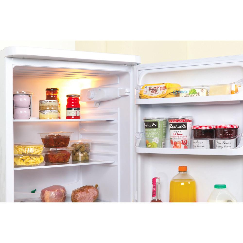Indesit Kombinerat kylskåp/frys Fristående CAA 55 1 White 2 doors Lifestyle detail