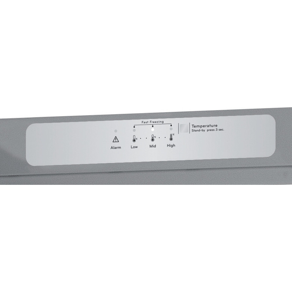 Indesit Freezer Free-standing UI6 F1T S UK 1 Silver Control panel