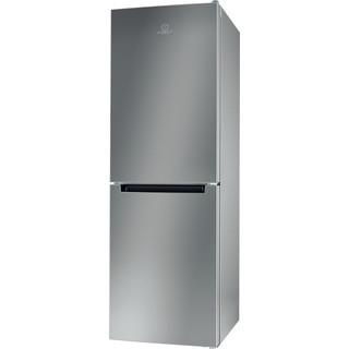 Indesit Combiné réfrigérateur congélateur Pose-libre LR7 S1 S Argent 2 portes Perspective