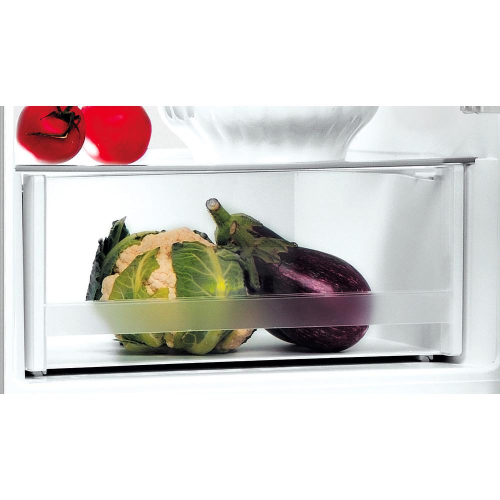 Indesit Combiné réfrigérateur congélateur Pose-libre LI7 S1E S Argent 2 portes Drawer