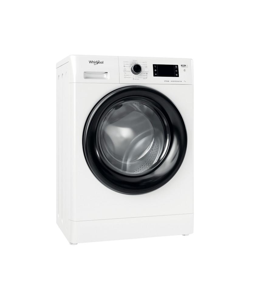Whirlpool Washing machine Samostojni FWSG 71283 BV EE N Bela Front loader D Perspective