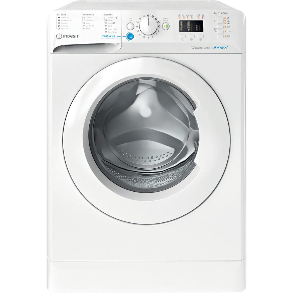 Indesit Washing machine Free-standing BWA 81484X W UK N White Front loader C Frontal