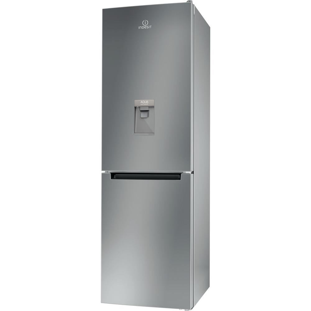 Indesit Fridge Freezer Free-standing LR8 S1 S AQ UK.1 Silver 2 doors Perspective