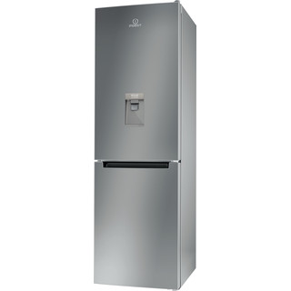 Indesit Fridge Freezer Free-standing LR8 S1 S AQ UK.1 Silver 2 doors Perspective