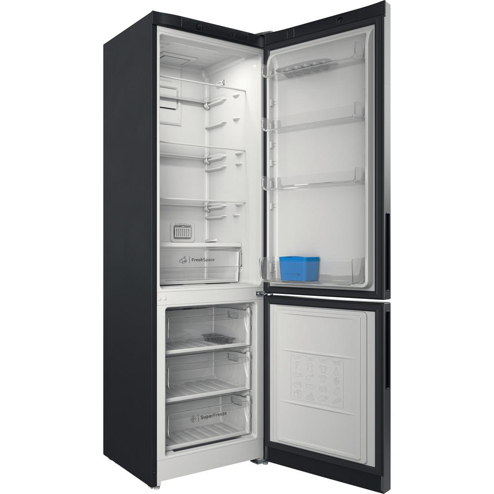 Indesit Холодильник с морозильной камерой Отдельностоящий ITD 5200 S Серебристый 2 doors Perspective open