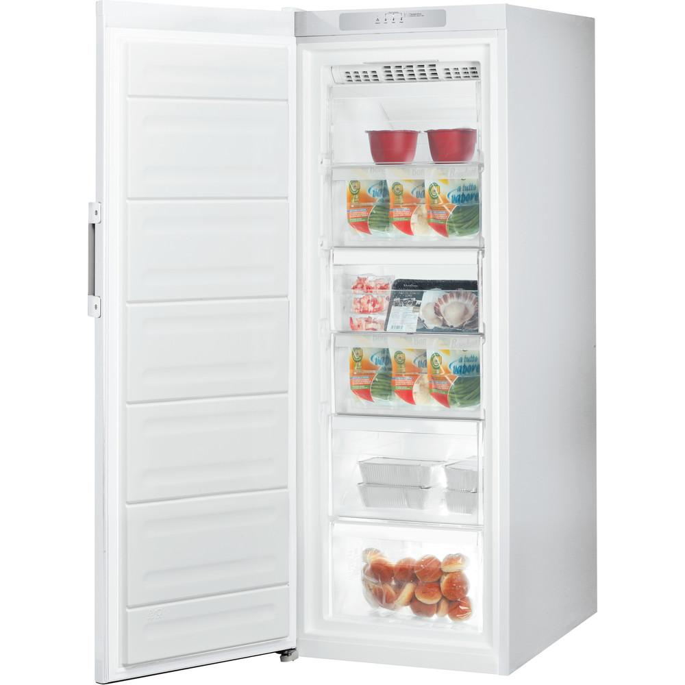 Indesit Congelador Livre Instalação UI6 F1T W Branco global Perspective open