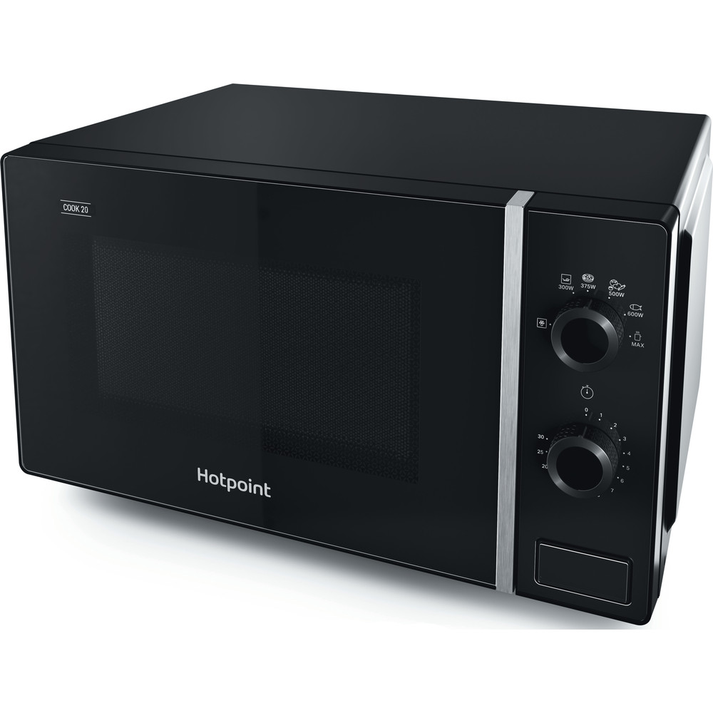 Hotpoint Microwave Free-standing MWH 101 B Black Mechanical 20 MW only 700 Perspective