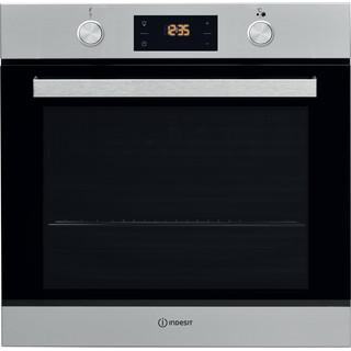 Εντοιχιζόμενος ηλεκτρικός φούρνος Indesit: χρώμα inox, αυτόματο καθάρισμα