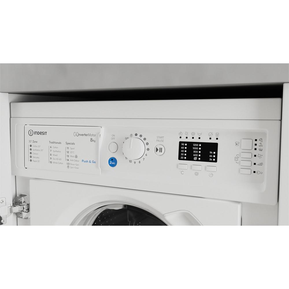 Indesit Washing machine Built-in BI WMIL 81284 UK White Front loader C Control panel