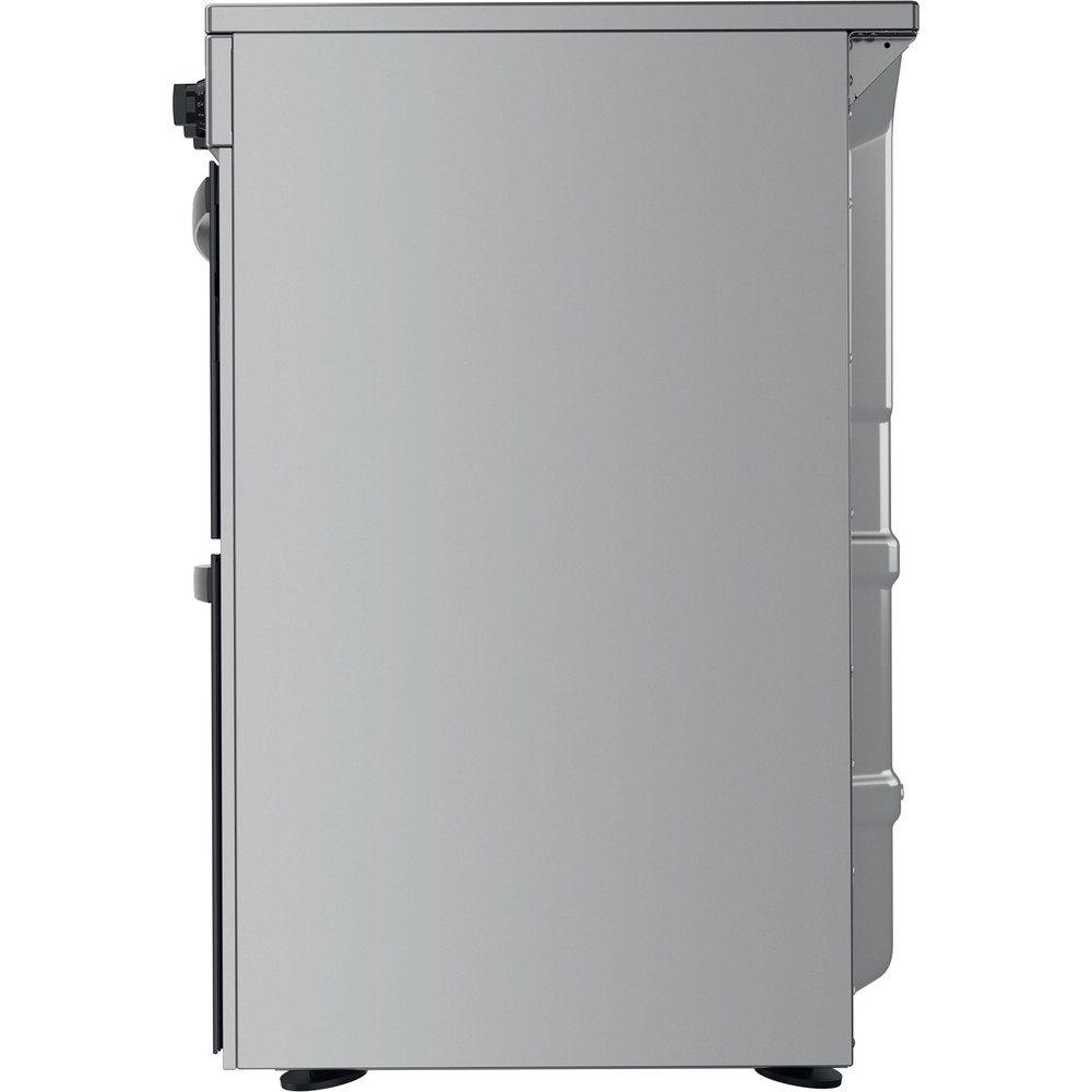 Indesit Double Cooker ID67V9HCX/UK Inox A Back / Lateral