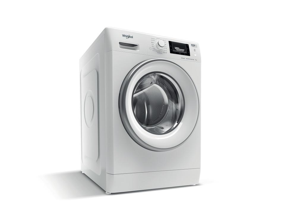 Whirlpool Maşină de spălat rufe De sine statator FWSD 81283 SV EE N Alb Încărcare frontală D Perspective
