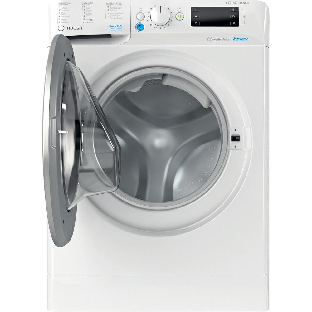 Indesit Lavadora secadora Libre instalación BDE 861483X WS SPT N Blanco Cargador frontal Frontal open