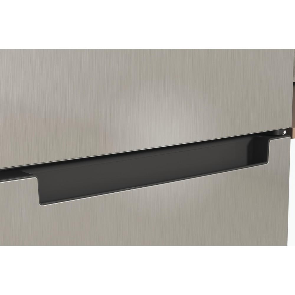 Indesit Køleskab/fryser kombination Fritstående INFC8 TI21X Rustfrit stål 2 doors Lifestyle detail