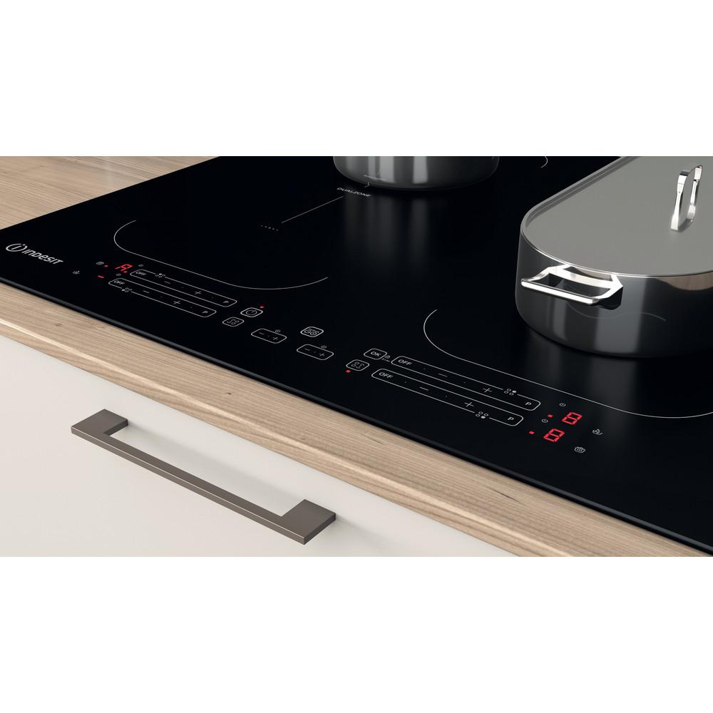 Indesit Table de cuisson IB 88B60 NE Noir Induction vitroceramic Lifestyle control panel