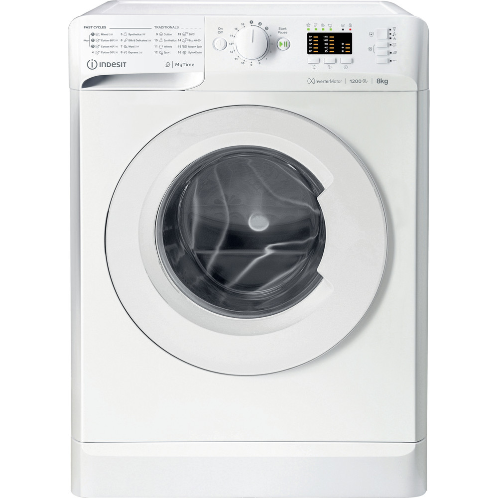 Indsit Maşină de spălat rufe Independent MTWA 81283 W EE Alb Încărcare frontală A +++ Frontal