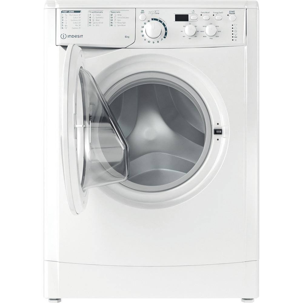 Indesit Washing machine Free-standing EWSD 61251 W UK N White Front loader F Frontal open