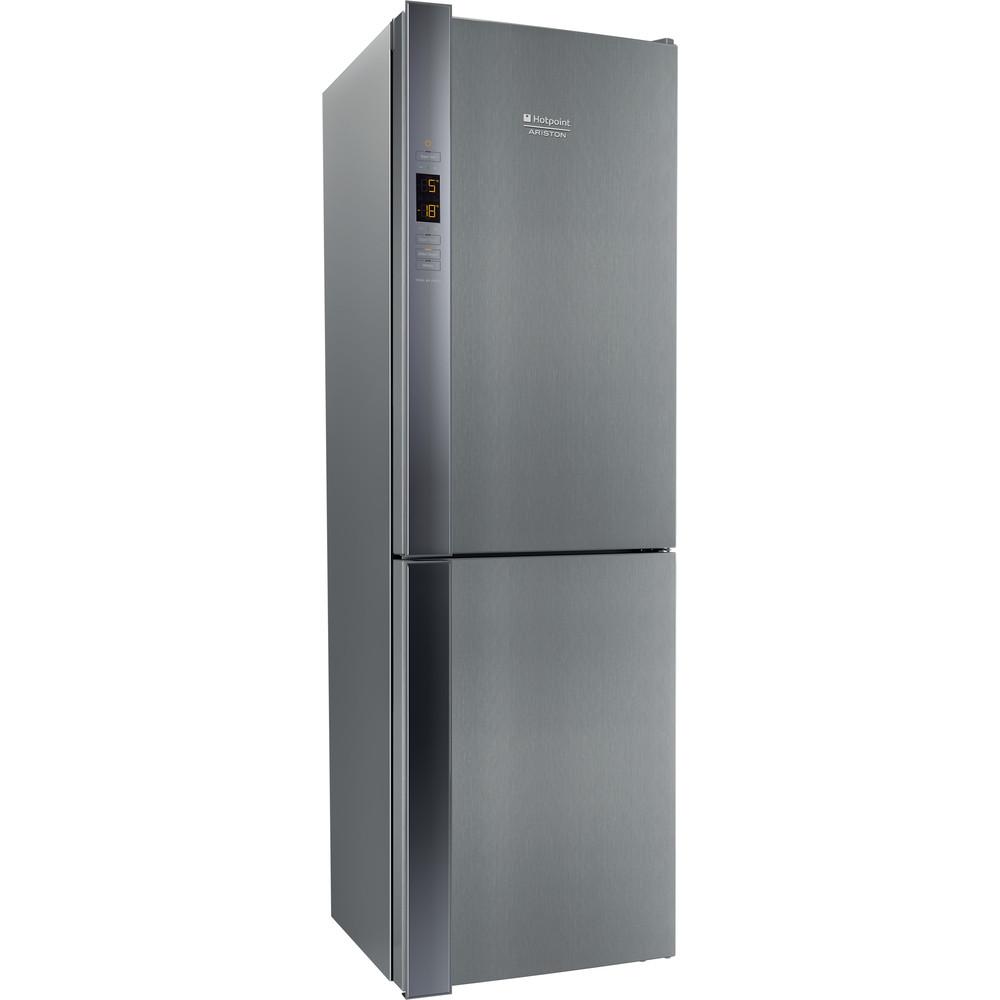 Hotpoint_Ariston Combinație frigider-congelator Neincorporabil XH8 T3Z XOJZV Inox 2 doors Perspective