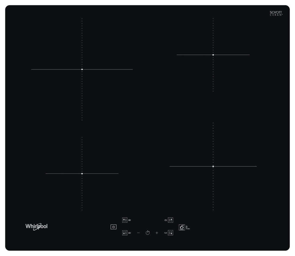 Whirlpool Főzőlap WS Q7360 NE Fekete Induction vitroceramic Frontal