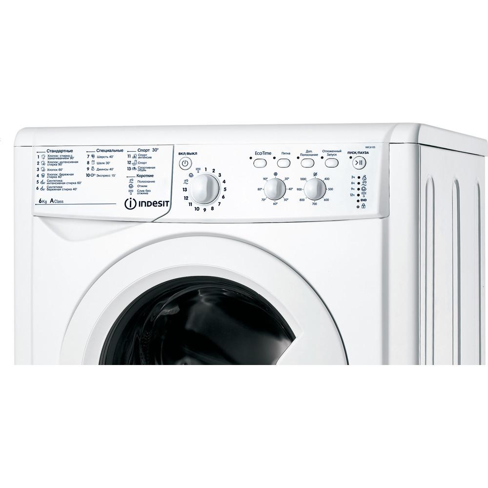 Indesit Стиральная машина Отдельностоящий IWC 6105 (CIS) Белый Фронтальная загрузка A Control panel