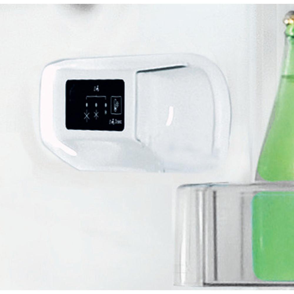 """""""Indesit"""" Šaldytuvo / šaldiklio kombinacija Laisvai pastatoma LI6 S1E W """"Global white"""" 2 doors Lifestyle control panel"""