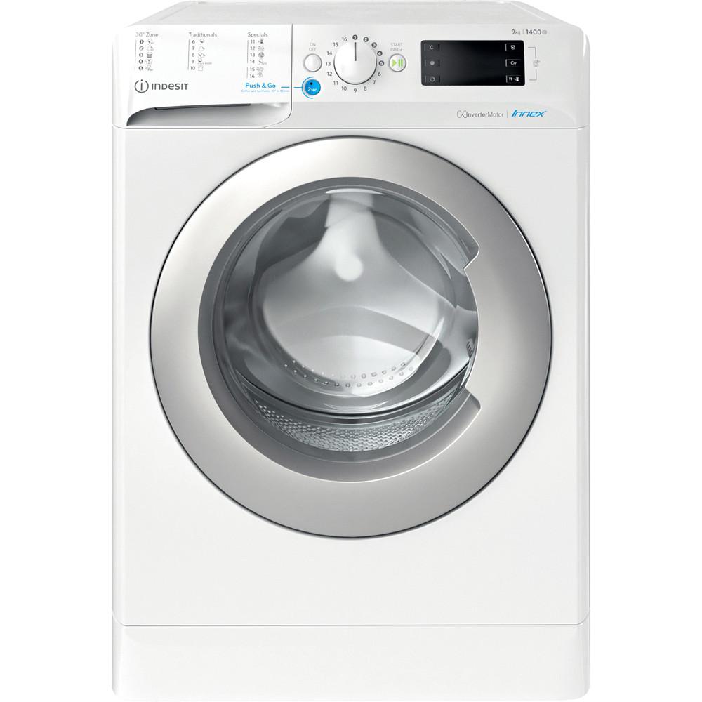 Indesit Tvättmaskin Fristående BWE 91484X WS EU N White Front loader C Frontal