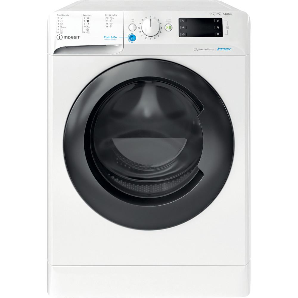 Indesit Kombineret vaskemaskine/tørretumbler Fritstående BDE 1071482X WK EU N Hvid Frontbetjent Frontal