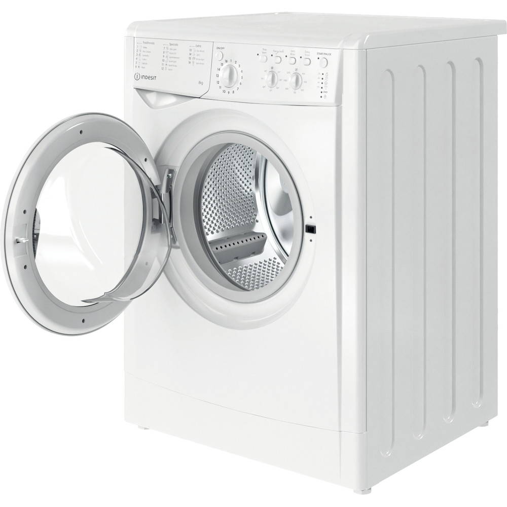 Indesit Washing machine Free-standing IWC 81251 W UK N White Front loader F Perspective open