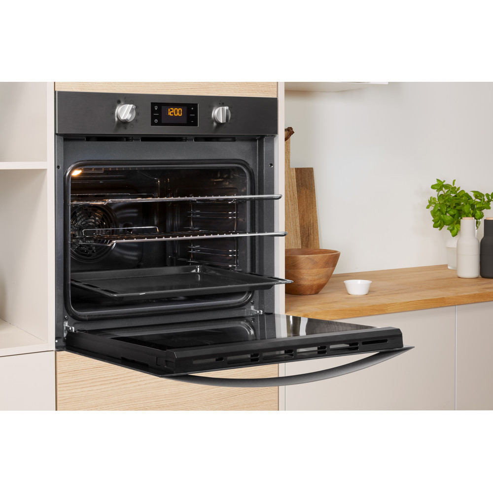 Indesit OVEN Built-in KFW 3844 H IX UK Electric A+ Lifestyle perspective open