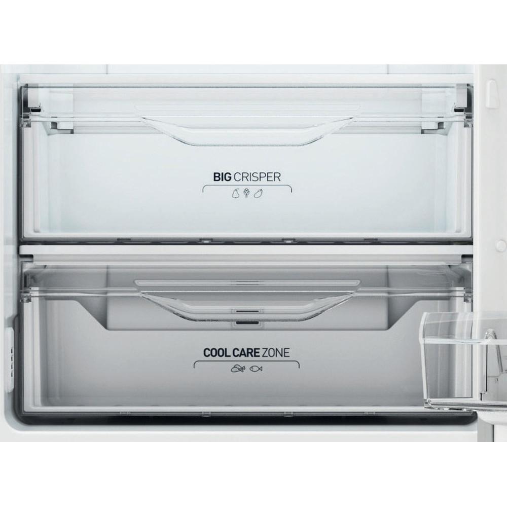 Indesit Combinazione Frigorifero/Congelatore A libera installazione XI8 T2Y X B Inox 2 porte Drawer