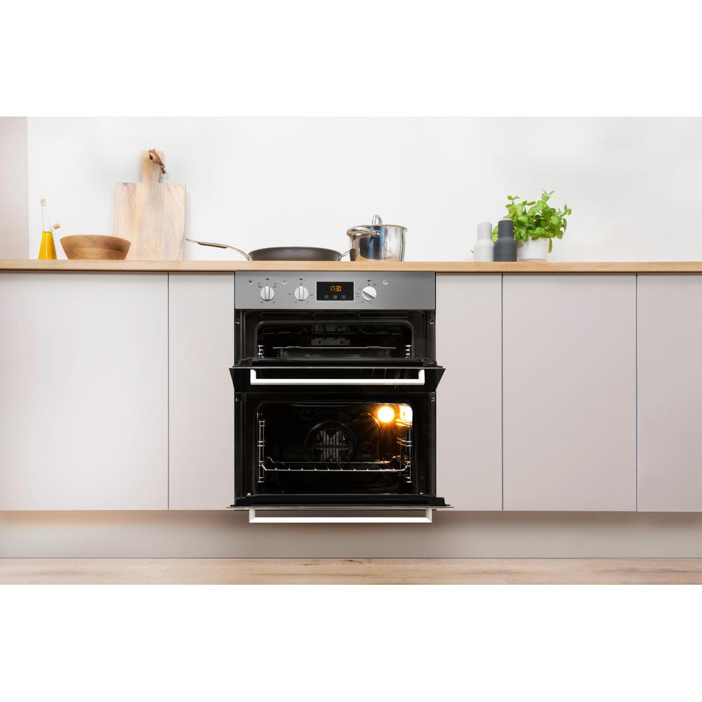 Indesit Double oven IDU 6340 IX Inox B Lifestyle frontal open