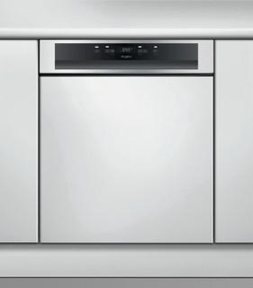 Whirlpool félig integrált mosogatógép: Inox szín, normál méretű - WB 6020 P X