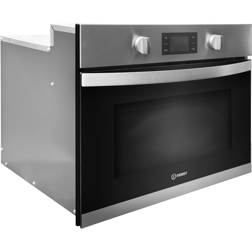 Indesit Microwave Built-in MWI 3443 IX UK Inox Electronic 40 MW+Grill function 900 Perspective