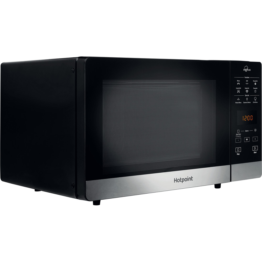 Hotpoint Microwave Free-standing MWH 2734 B Black Electronic 25 MW-Combi 800 Perspective