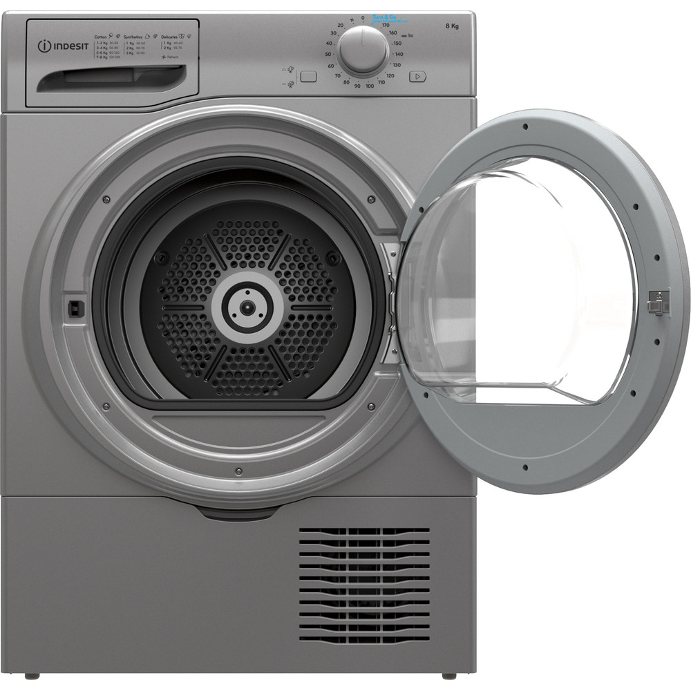 Indesit Dryer I2 D81S UK Silver Frontal open