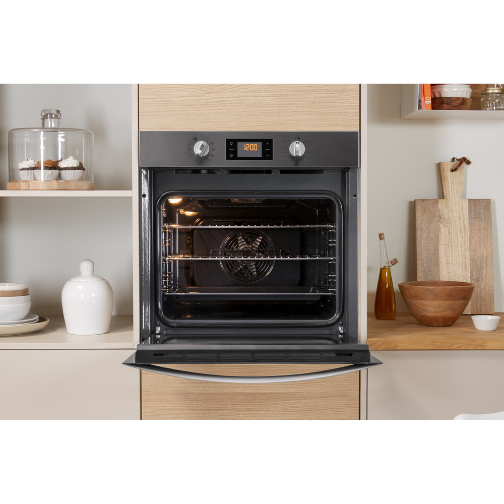Indesit OVEN Built-in KFW 3844 H IX UK Electric A+ Lifestyle frontal open