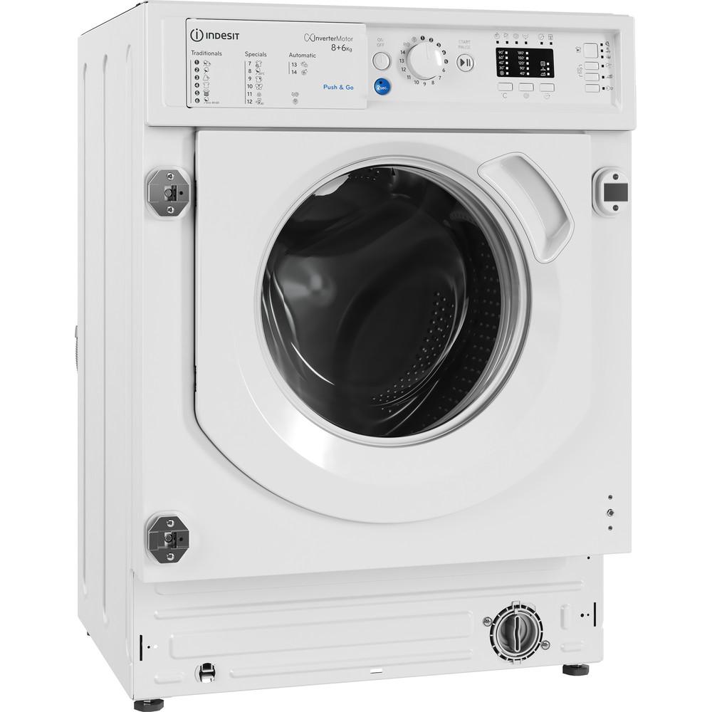 Indesit Lavante-séchante Encastrable BI WDIL 861484 EU Blanc Lave-linge frontal Perspective