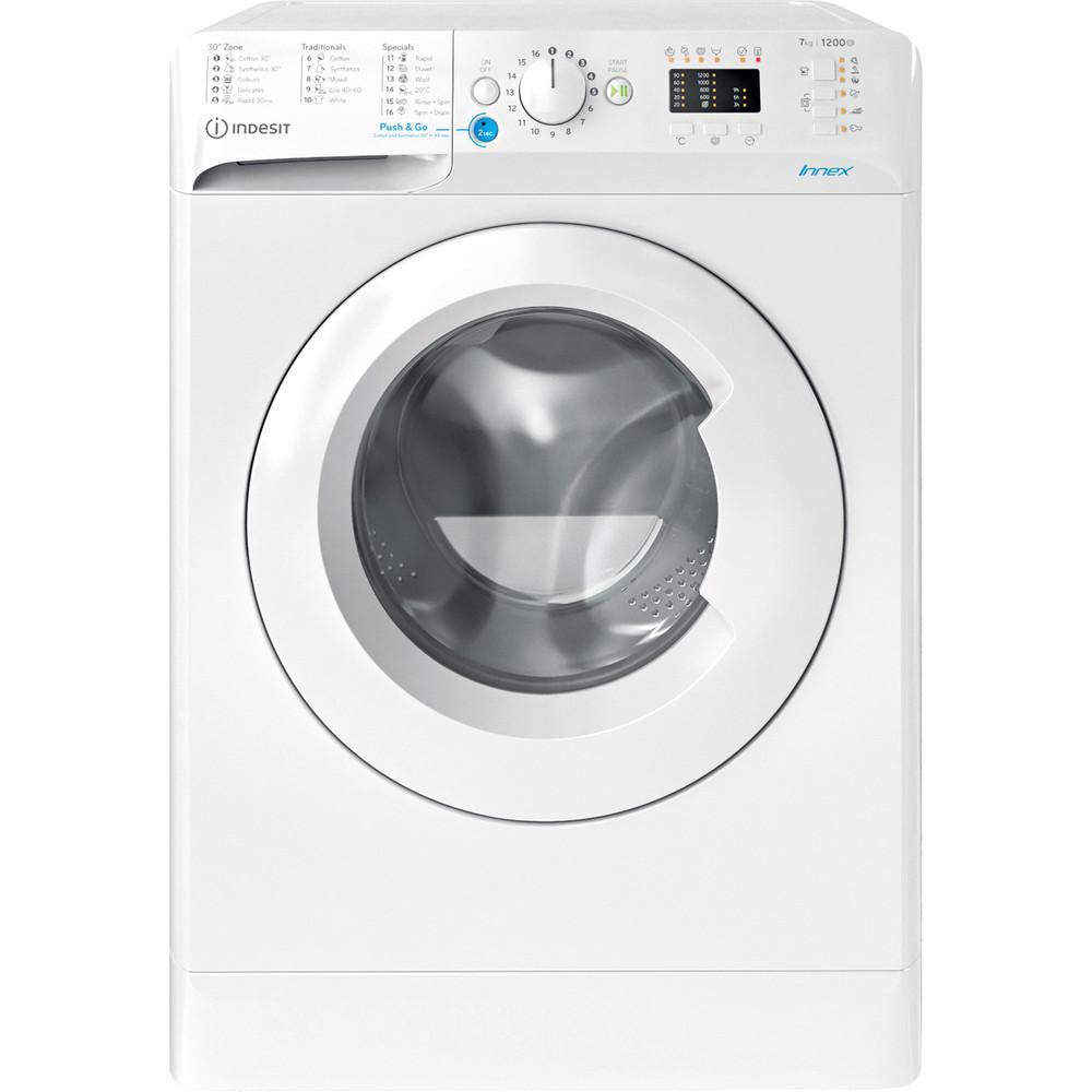 Indesit Перална машина Свободностоящи BWSA 71251 W EE N Бял Предно зареждане E Frontal