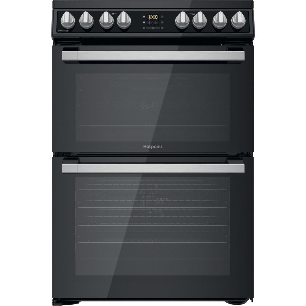 Hotpoint Double Cooker HDT67V8D2CB/UK Black A Frontal