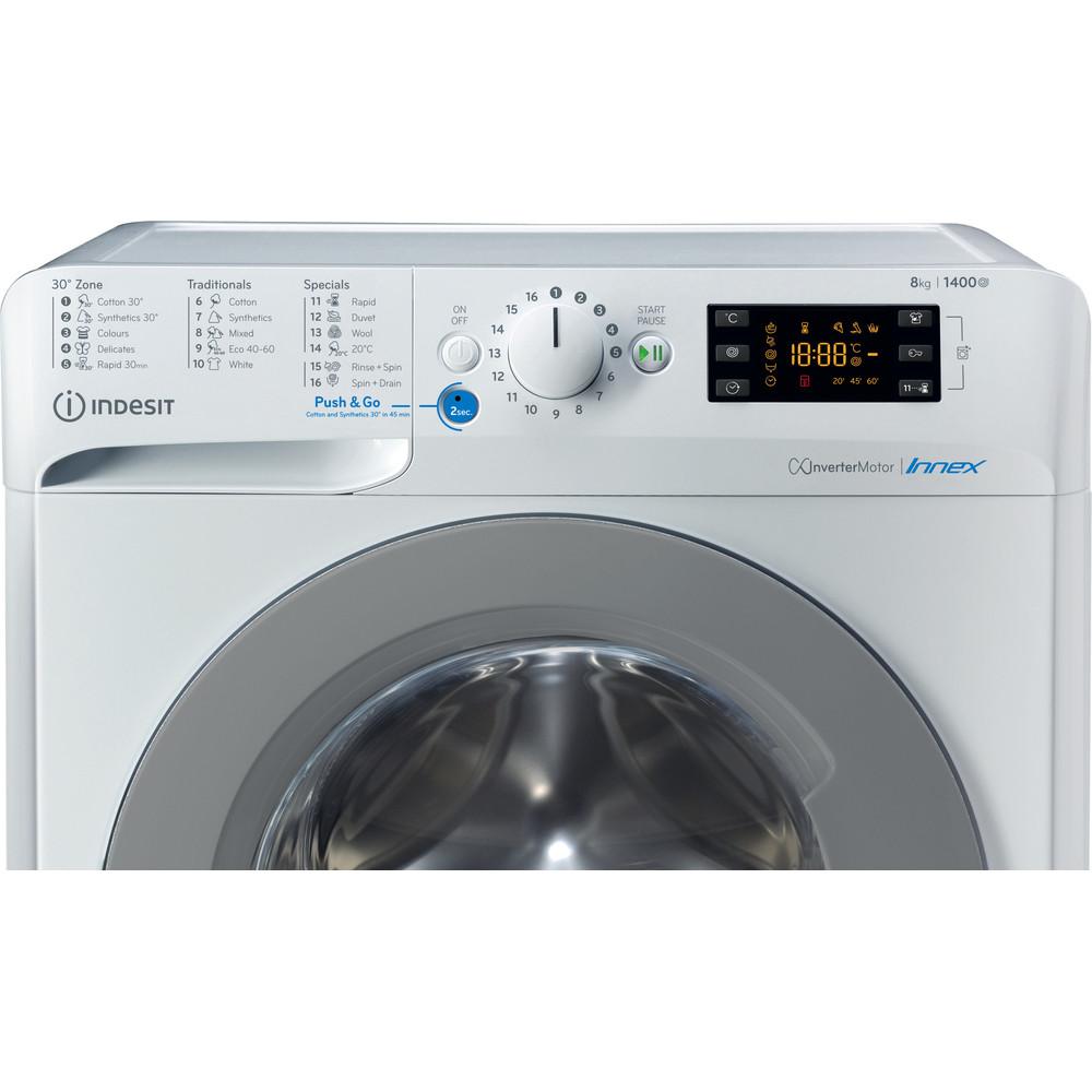 Indesit Tvättmaskin Fristående BWE 81484X WS EE N White Front loader C Control panel