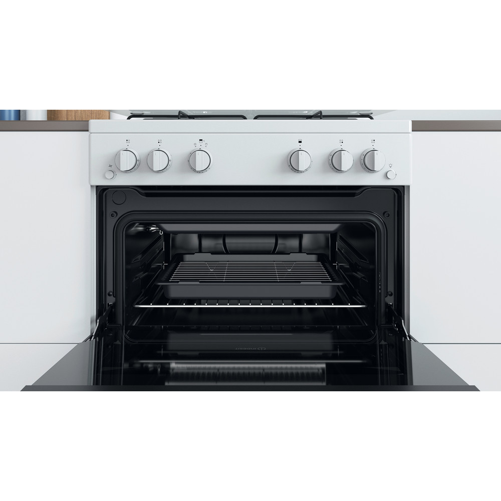 Indesit Double Cooker ID67G0MCW/UK White A+ Cavity