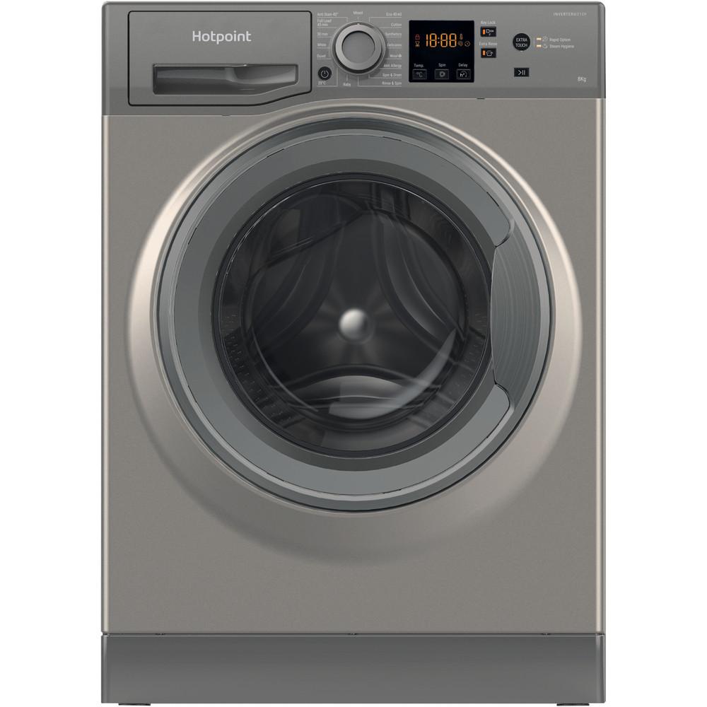 Hotpoint Washing machine Free-standing NSWR 843C GK UK N Graphite Front loader D Frontal