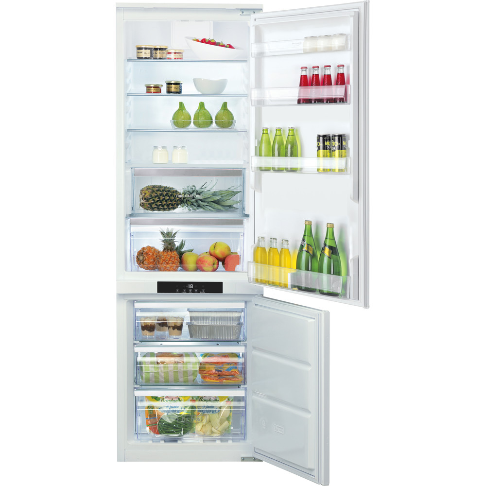 Hotpoint_Ariston Combinazione Frigorifero/Congelatore Da incasso BCB 7030 AA F C Bianco 2 porte Frontal open