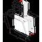 Whirlpool wall mounted cooker hood - WHVS 90F LT C K
